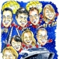 Corporate Caricature Christmas Card Santa Boat from Photos