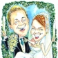 A2 colour caricature for wedding present