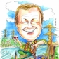 A2 colour caricature by Luke Warm of 1 person as a leaving present