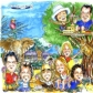 A2 colour group caricature by Luke Warm of 10 people as a thank you present